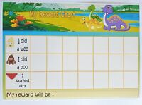 MAGNETIC- DINOSAUR -Reward Chart - POTTY-TOILET TRAINING- FREE pen/stickers