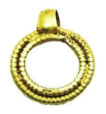 6th - 7th century A.D. Anglo Saxon Period Gold Concentric Ring Shaped Pendant