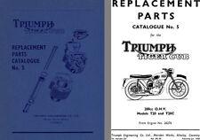 Triumph Tiger Cub 200cc OHV Models T20 & T20C Replacement Parts Catalogue No. 5