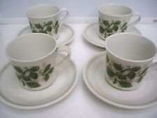 4  ROYAL ALBERT CUP AND SAUCER SETS  ''ROSE ARBOUR'' COUNTRY GARDEN