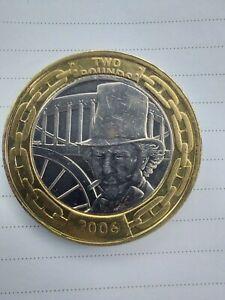 RARE Mint Striking Error - 2006 Isambard Kingdom Brunel £2 Coin (Circulated)