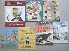 1950s CALDECOTT LOT 7~Biggest Bear~Crow Boy~Swallows~Egg Tree~Storm Bk~Cinderell
