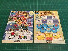 Kit Flyers Snk Neo Geo MVS Borne Arcade Jamma Artset Miracle Adventures Original