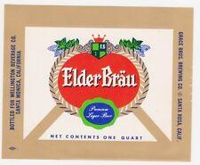 Elder Brau Beer Label