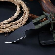 """5"""" Mini Pocket Tactical Fixed Blade Knife Blade Open Finger Paw Survival"""