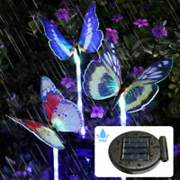 1/3PCS Solar Garden Stake Butterfly Light Outdoor Landscape Lamp Yard LED Lights