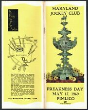 MAJESTIC PRINCE - 1969 PREAKNESS STAKES HORSE RACING PROGRAM PIMLICO RACE COURSE