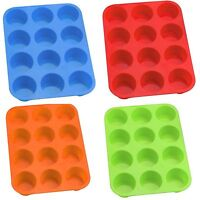 12pcs Silicone Muffin Baking Mold Cupcake Kitchen Silicone Cake Mould