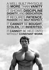 Arnold Schwarzenegger Motivation Gym A4 260GSM POSTER PRINT