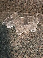 Vintage Victory Glass Jeannette PA Miniature Scotty Dog Candy Container #15