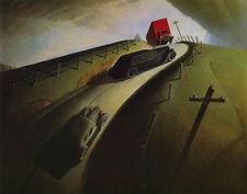 Wood Grant Death On The Ridge Road Print 11 x 14    #3814
