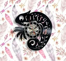 Chameleon salamander vinyl wall clock 12 inches best gift for men and woman