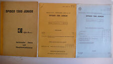 Alfa Romeo Spider 1300 Junior - Technische Daten und Hauptkontrollmasse, 7.1968