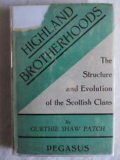 Highland Brotherhood 1st edition hardcover Gurthie Patch