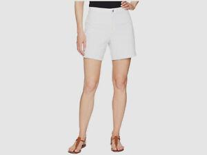 $139 Lysse Womens White Casual twill High Rise Waist Cut Off Short Shorts Size L