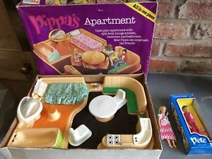 Vintage Palitoy Pippas Apartment And Pippa Doll And Pete Pippas Friend Boxed Vgc