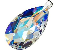SWAROVSKI CRYSTALS BEAUTIFUL PENDANT BLUE AURORA 50MM STERLING SILVER 925