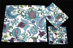 3-PC Kassafina Fresh Paisley Jacobean Floral Scroll Colorful Towel Set NWT DISC