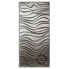 More details for 2021 star wars mandalorian 1oz silver beskar bar   ideal present. velvet pouch