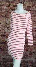Paul & Joe Pink White Striped Shift Dress Size 8 (EU 38)