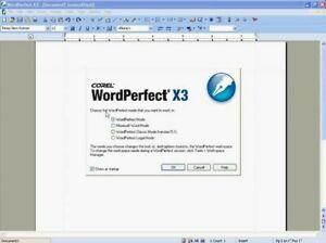 Corel WordPerfect Office X3, As New, 3 CDs, Vintage Software, FREE post!