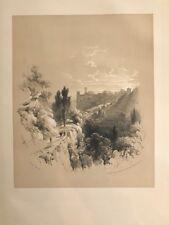 Granada Fuente Avellanos.George Vivian, litografia original.Londres 1838