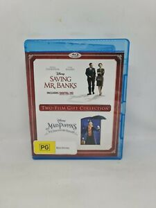 SAVING MR. BANKS & MARY POPPINS Blu-ray Region B Movie Very Good Condition