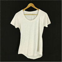 Lululemon T-Shirt Gray Women's Small Short Sleeve Round Neck