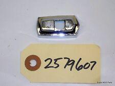 NOS MoPar 1966 Plymouth Sport Fury  CHROME HOOD ORNAMENT BASE   pn 2579607