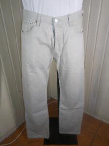 Pantalon jeans beige taille normale LEVIS 501 W34 L34 44fr  21JF8