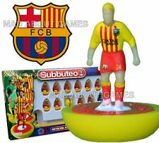 Official FC BARCELONA away Subbuteo Team Football Soccer Game Messi Paul Lamond
