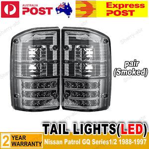 For Nissan Patrol GQ 1/2 Series 1988-1997 LED Smoked Black LH+RH Tail Lights NEW