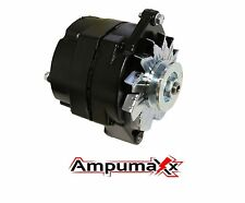 New Black 1 One Wire Hookup Alternator For GM 1962-1985