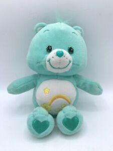 """Care Bear 10"""" Wish Bear Plush Stuffed Animal Plushie Toy Shooting Star Teal"""