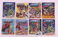 Vintage 1982 Masters of the Universe MOTU Mattel Mini Comics Lot of 8 Book Rare