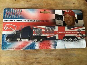 1/87 SCALE MICHAEL SCHUMACHER COLLECTION F1 2005 BRITISH GP TRUCK