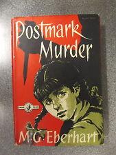 POSTMARK MURDER by M.G. EBERHART  Pub.CRIME CLUB COLLINS  H/B D/W  UK POST £3.25