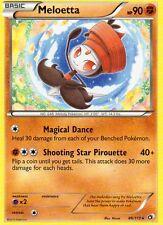 Pokémon Black & White 11 Legendary Treasures 86/113 Meloetta 90 HP estrella mapa