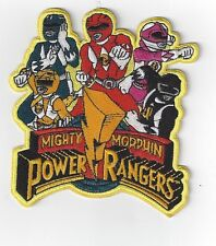 EX LARGE POWER RANGERS  IRON ON PATCH BUY 2 GET ANOTHER OF THESE  FREE