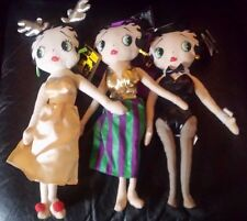 """BETTY BOOP DOLLS 3 """"REINDEER"""", """"HAREM GIRL"""" & """"PLAYBOY BUNNY"""" NEW WITH TAGS"""