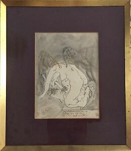 Uri Lifschitz  Drawing Hand Signed 1968