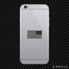 Reverse Subdued American Flag Cell Phone Sticker Mobile america usa opposite