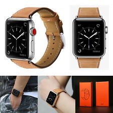 42mm Strap Band Genuine Leather Apple Watch Series 3 2 1 Wristband Brown New