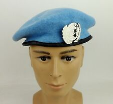UNITED NATIONS PEACEKEEPING FORCES MILITARY SPECIAL FORCES WOOL BERET HAT BADGE