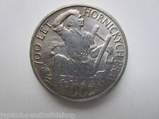 CZECHOSLOVAKIA 100 korun 700 years of Jihlava Mining Privileges 1949 coin Ag