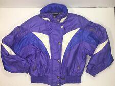Vtg Descente Jacket Womens Size 10 Ski Coat Hooded Purple Winter Outdoor Jacket