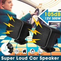 Universal 12 V 91DB Car Speaker Audio Super Power Loud Tweeter Speakers Black US
