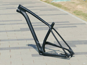 "Carbon Matt 29ER boost PLUS Mountain Bike Frame 17"" 148 * 12mm  + Axle + Headset"