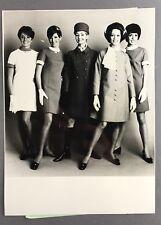 AIR CANADA CABIN CREW NEW UNIFORM PRESS PHOTO 1969 STEWARDESS AIR HOSTESS