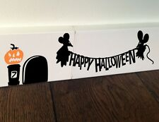 SALE Happy Halloween Ghost MICE MOUSE Minie funny Art wall decal sticker